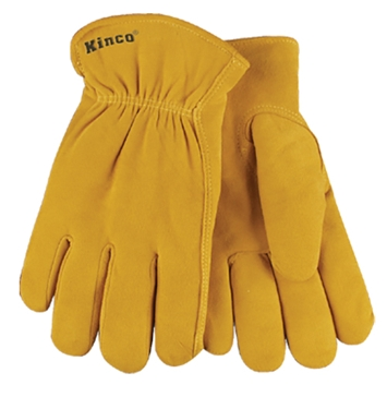 Kinco Lined Split Deerskin Leather Driver Gloves