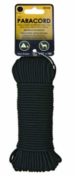 Koch Industries Black 550 Paracord 5/32in x 100ft