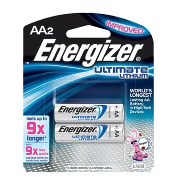 Energizer E2 Lithium AA Batteries 2-PK