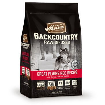 Merrick Backcountry Raw Infused Great Plains Red Meat Recipe Dry Dog Food