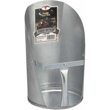 Miller 4qt Galvanized Feed Scoop 9204
