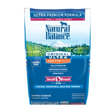 Natural Balance Original Ultra Whole Body Health Chicken, Chicken Meal & Duck Meal Small Breed Bites Formula Dry Dog Food
