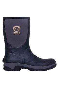 Noble Outfitters Men's MUDS Mid Black Neoprene and Rubber Boot