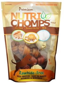 "Nutri Chomps Assorted Flavor Knots 4"" 9 Ct."
