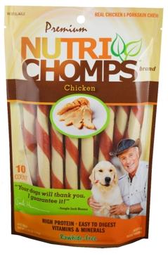 Nutri Chomps Mini Twist Chicken Flavor 10 Ct.