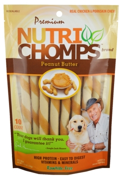 Nutri Chomps Peanut Butter Mini Twist 10 Ct.