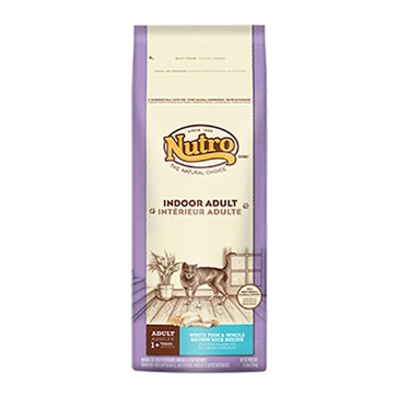Nutro Indoor Adult Dry Cat Food - White Fish & Whole Brown Rice Recipe