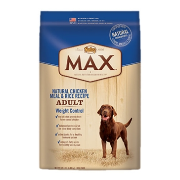 Nutro Max Adult Dry Dog Food - Natural Chicken Meal & Rice Recipe