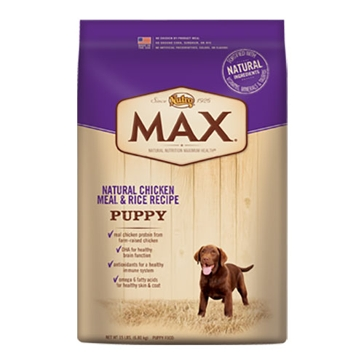 Nutro Max Dry Puppy Food - Natural Chicken Meal & Rice Recipe