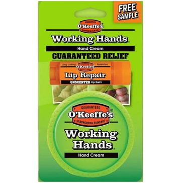 O'Keeffe's Working Hands 3.4 oz. Hand Cream with Bonus Lip Repair Tube