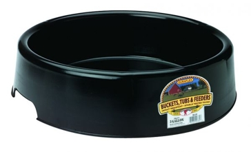 Little Giant PBLP3BLACK Pan Feeder, 3 gal Volume, Plastic, Black