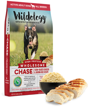 Wildology CHASE Chicken & Rice High Protein Dog Food 28lb