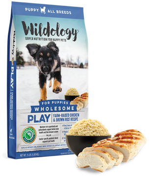 Wildology Play Chicken & Rice Puppy Dog Food 15lb