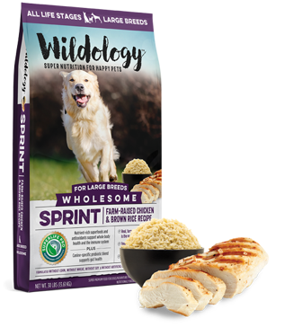 Wildology SPRINT Large Breed Chicken & Rice Dog Food 30lb