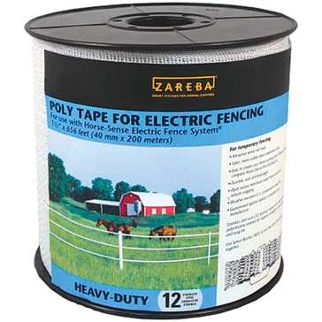 "Zareba Electric Fence Poly Tape Roll 656' x 1"" PT656W1-Z"