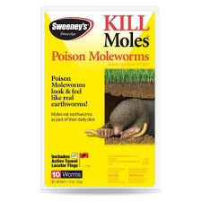 Sweeney's Mole & Gopher Poison Worms - 10 Pack