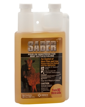 Saber Pour-On Insecticide