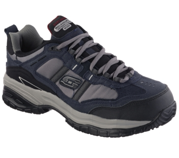 Skechers 77013 Grinnell Composite Toe Work Shoe Navy and Gray