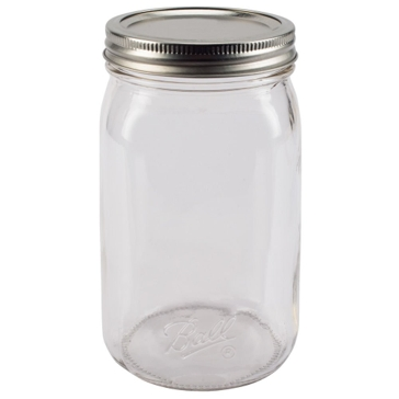 Ball Smooth-Sided Wide Mouth Quart 32oz Glass Mason Jars