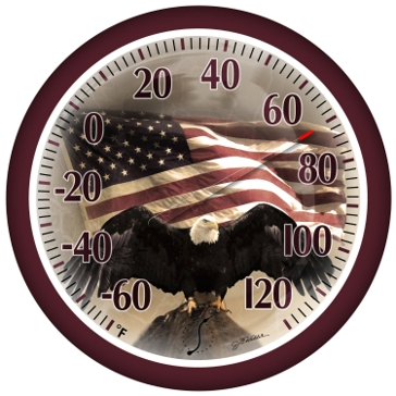 """Springfield 13.25"""" Bald Eagle Thermometer 90007-215"""