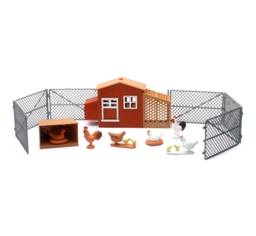 New Ray Large Chicken Coop Playset