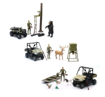 New Ray 1:12 Hunting Set with Vehicles