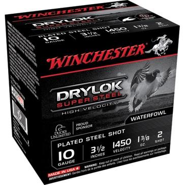 "Winchester Drylok Super Steel HV 10ga 3-1/2"" 2-Shot"