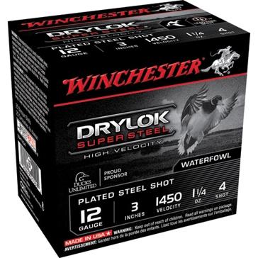 "Winchester Drylok Super Steel HV 12ga 3"" 4-Shot"