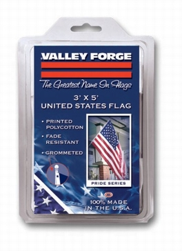 Valley Forge Polycotton 3ft x 5ft American Flag