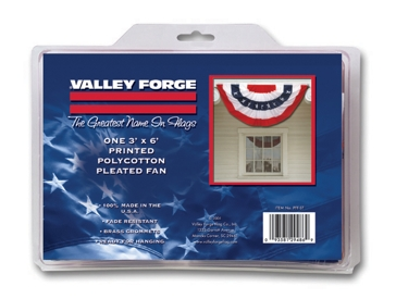 Valley Forge Polycotton 3ft x 6ft  Full Fan Bunting Flag