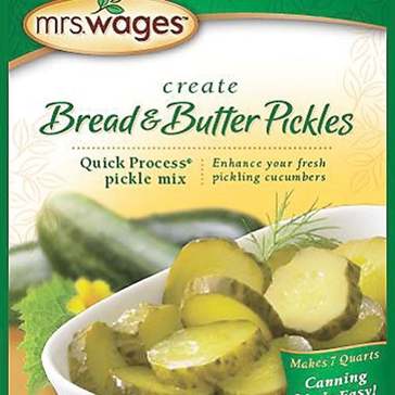 Mrs. Wages Bread & Butter Pickle Quick Process Mix 5.3oz
