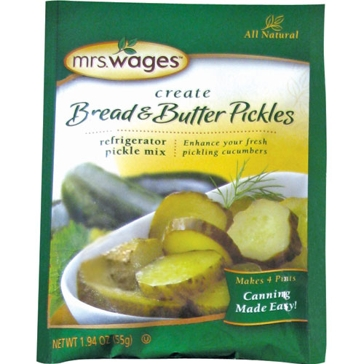 Mrs. Wages Bread & Butter Pickle Refrigerator Mix 1.94oz