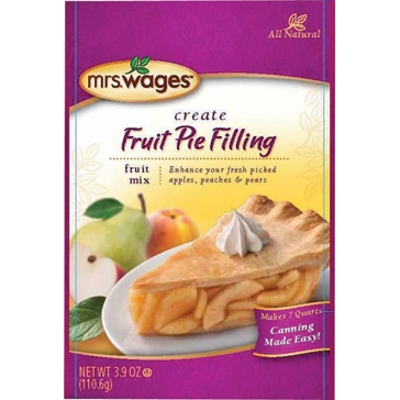 Mrs. Wages All Natural Fruit Pie Filling Mix 3.9oz