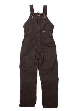 DARK BROWN - Berne Ladies Washed Insulated Bib Overalls