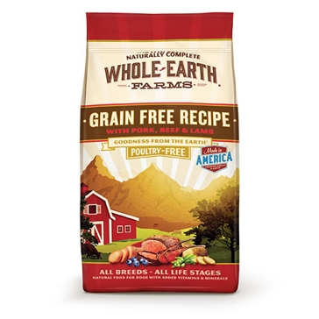 Whole Earth Farms Grain Free Pork, Beef & Lamb Recipe Dry Dog Food