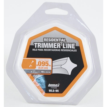 Arnold Residential Trimmer Line .095x40ft WLS-95