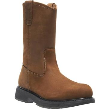 Wolverine Slip-Resistant Steel Toe 10in Wellington Work Boots