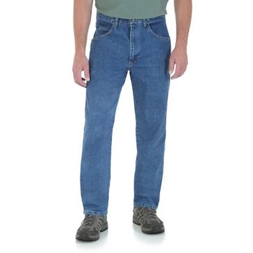 Wrangler Rugged Wear Relaxed Stretch Flex Denim Jean Stonewashed