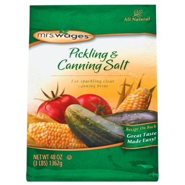 Mrs. Wages Pickling & Canning Salt 3lb