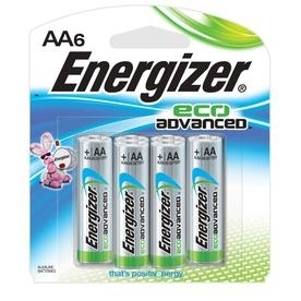 Energizer Eco-Advanced AA Batteries 6PK