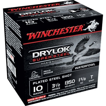 "Winchester Drylok Super Steel Magnum 10ga 3-1/2""  T-Shot"