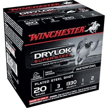 "Winchester Drylok Super Steel Magnum 20ga 3"" 2-Shot"