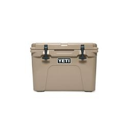 YETI Tundra YT35T Ice Cooler, 26 lb Ice, 21 Cans Beer Capacity, Polyethylene, Desert Tan, Polyester Handle