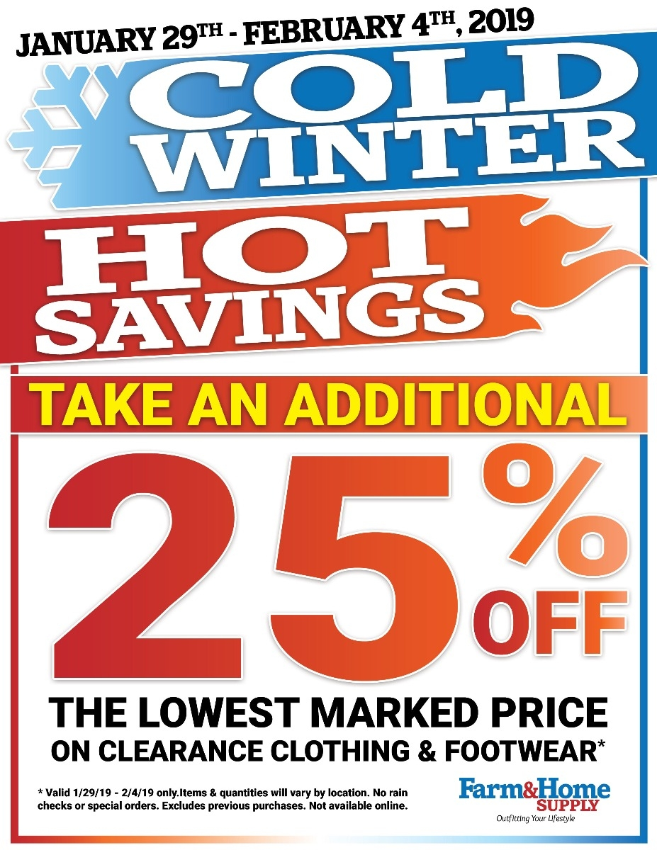 Cold Weather/Hot Deals