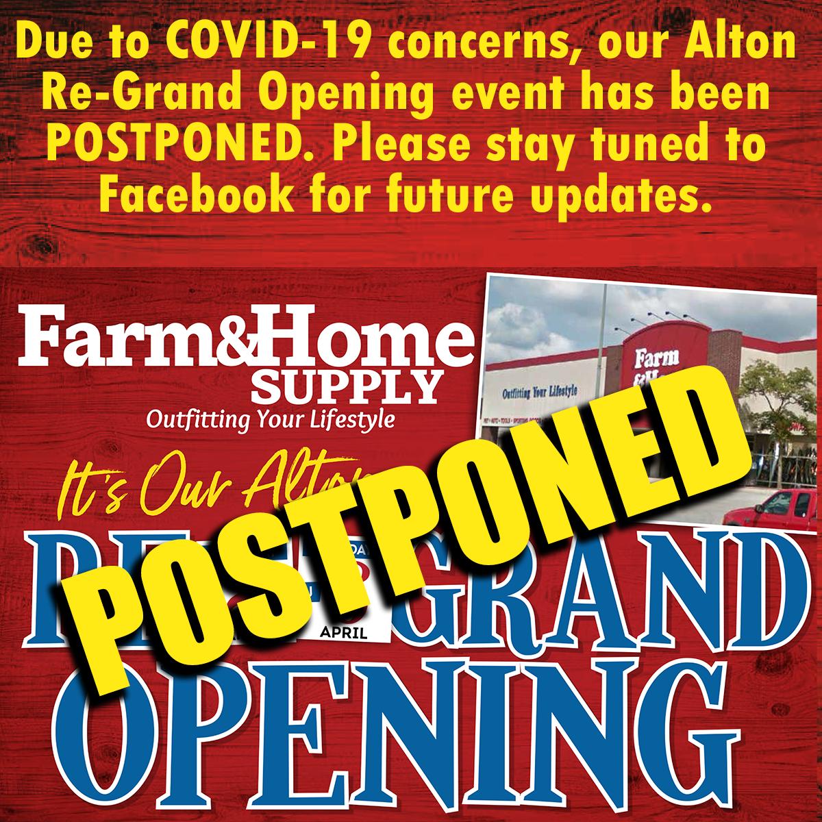 Alton RGO Postponed