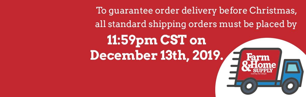 Shipping Deadline