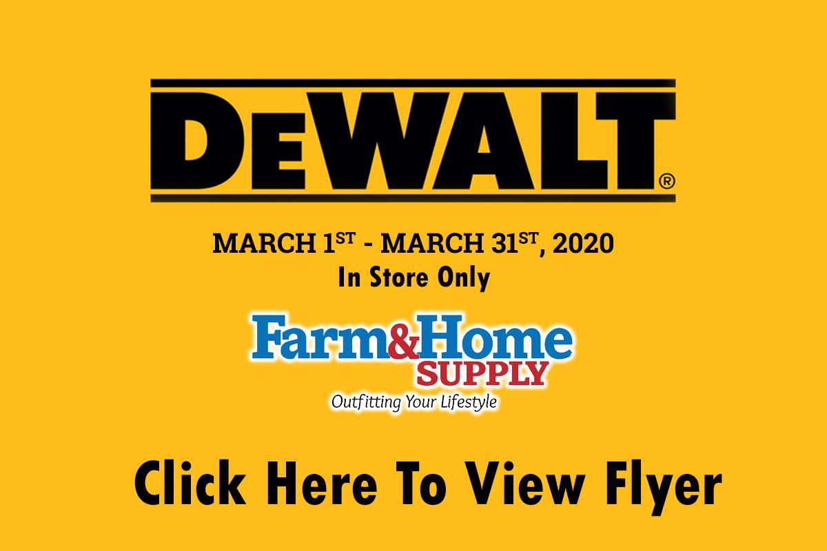 March DeWalt