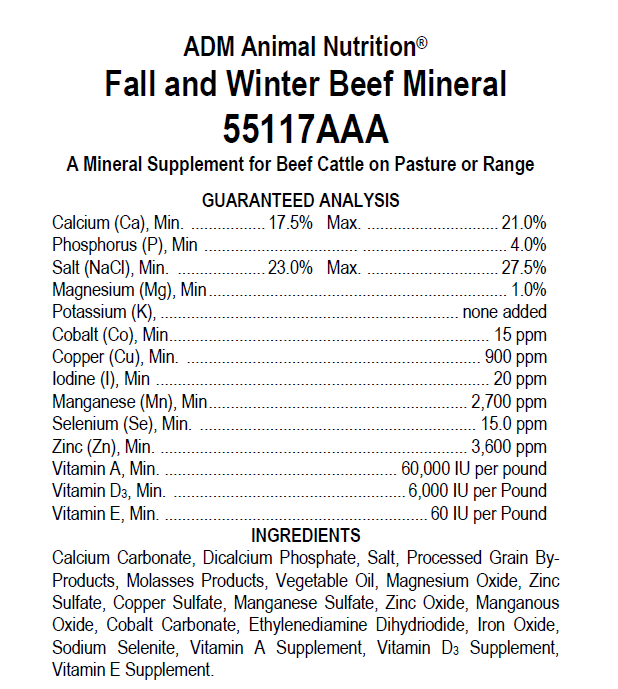 Beef Mineral Tag