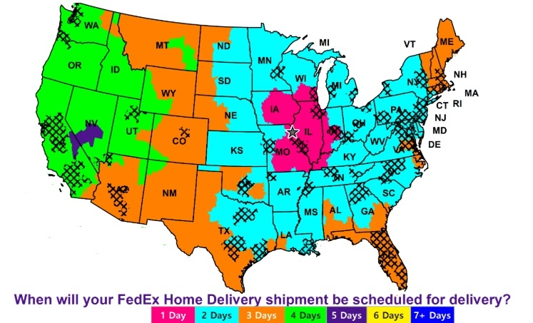 FedEx Ground Service Map