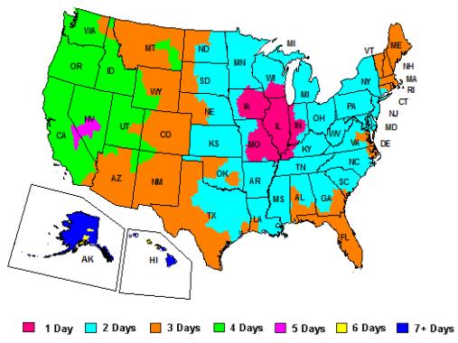 FedEx Ground Service Map